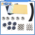 Magnetische Beheizte Bett MK52 24v Thermistor Kit + Stahl Blatt + PEI + 623h + Muttern + spacer + textil Sleeve Kabel Für Prusa i3 MK3