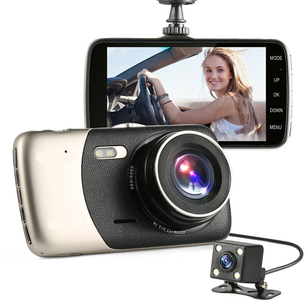 2017 new 4 mini car dvr dual lens video recorder parking car camera full hd 1080p wdr dash cam. Black Bedroom Furniture Sets. Home Design Ideas