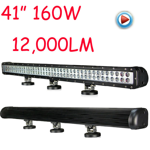 Free dhl ship1pcs,41inch 160w 12,000lm 10~30v,6500k,led working bar,forklift light,led offroad light,