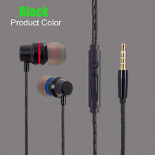 Super Bass Stereo Metal Earphone 3 5mm Jack Headset Headphone with Mic Music Earphone for ZTE