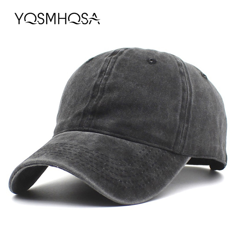 Vintage   Baseball     Cap   Men Snapback Cotton Women Summer   Baseball   Hat Solid Black Dad Hat Bone Outdoor Sports   Caps   Sun Hats WH004