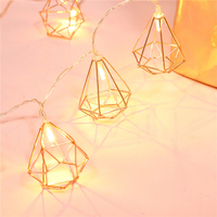 Aliexpresscom Buy 15m Rose Gold Diamond Shape Led String Lights Bedroom Christmas Led Fairy Lights For Wedding Party Home Decoration From Reliable