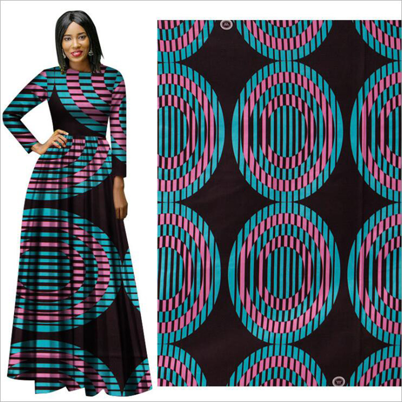 Me-dusa 2019 new folk-custom African Print Wax Fabric 100% cotton Hollandais Wax DIY Dress Suit cloth 6yards/pcs High quility(China)