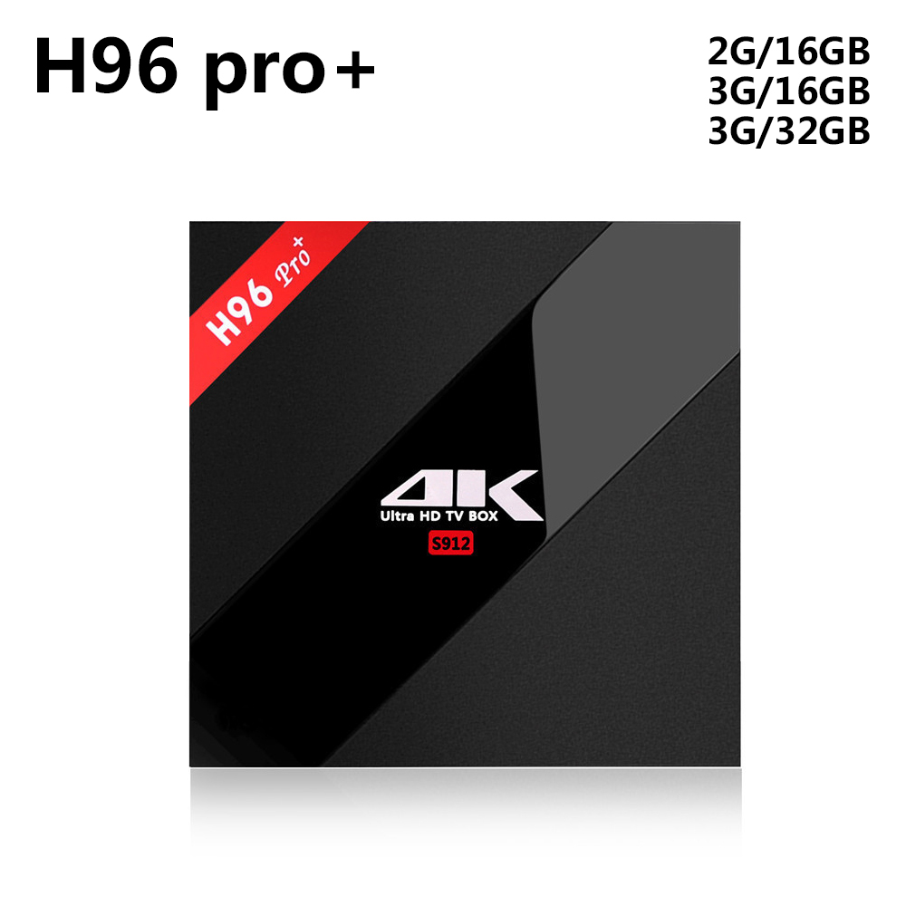 H96 Pro Plus + Amlogic S912 Octa Core Android 7.1 TV Box 3 gb 32 gb 4 k HD Media giocatore di 2.4g/5 ghz Wifi BT 4.1 Smart Set Top Box