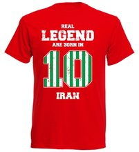 7551bae3b40 Iran 10 T-Shirt Men'S Footballer Soccers 2018 New 2018 Cotton Short-Sleeve T -Shirt Summer Short Sleeves Cotton Custom T Shirts