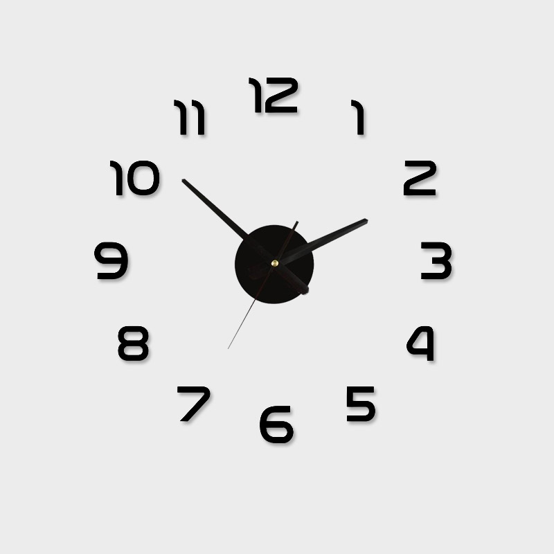 Acrylic Best Home Decoration DIY Wall Clock Unique Large number Stickers Self Adhesive home Decor Modern Wall Clocks