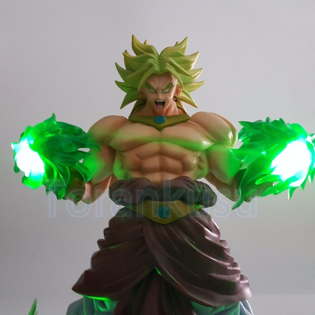 Dragon Ball Z Broly  Action Figure With Green Power Led