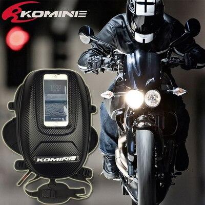 Komine New Waterproof Motor Tank Bag Oil Fuel Tank Bag Magnetic Motorbike Saddle Bag Single Shoulder
