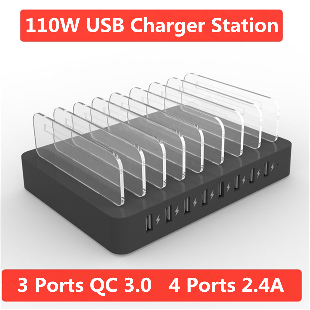 110W 8USB Port Quick Charger 3.0 USB Adapter Multi-port Smart Fast Charging for Mobile Phone Tablet Family Office Travel Charger110W 8USB Port Quick Charger 3.0 USB Adapter Multi-port Smart Fast Charging for Mobile Phone Tablet Family Office Travel Charger