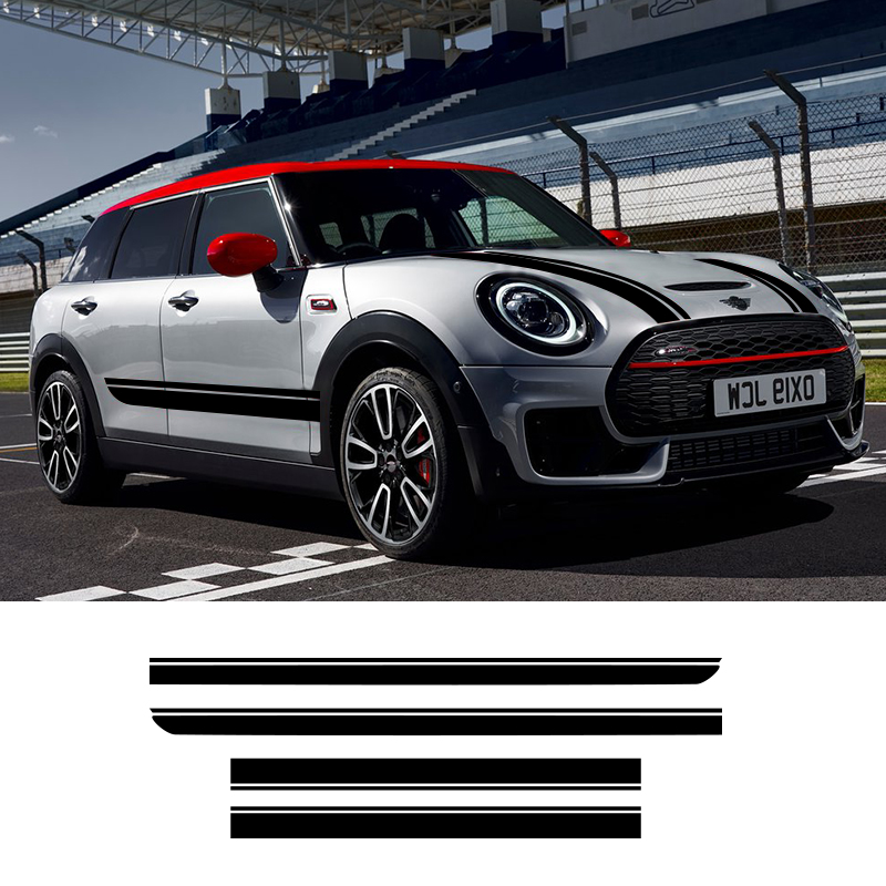 1 Set Vinyl Car Styling Side Stripes Hood Roof Sticker Decals Wraps Body Stickers For Mini