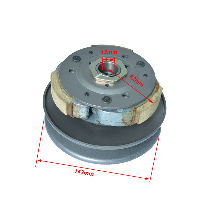 2088 Motorcycle 12mm Shaft Belt Transmission Driven Wheel Clutch Assembly For Haojue Suzuki AN125 HS125T AN HS 125 Spare Parts