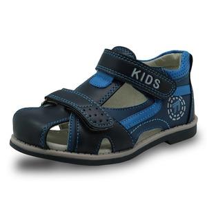 Image 3 - Apakowa Sandalias de goma con punta cerrada para niños, zapatos ortopédicos de verano con soporte para arco, a la moda