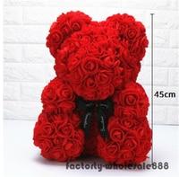 45cm Giant Large Huge Big Teddy Bear Rose Flower Bear Toys Valentine Xmas Gift A Birthday Gift