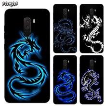 Heart Silicone Case For Xiaomi Pocophone F1 Mi 5S Plus 5X 6X A1 A2 8 lite 9 SE Max 3 Pro Note 2 Cover Beautiful Dragon Sketch