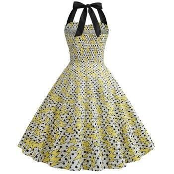 59f5687335593f 25.86 zł. Gorąca sprzedaży nowy 2019 kobiety moda drukuj wieczorne Party  Prom przycisk Swing Halter Hepburn sukienka