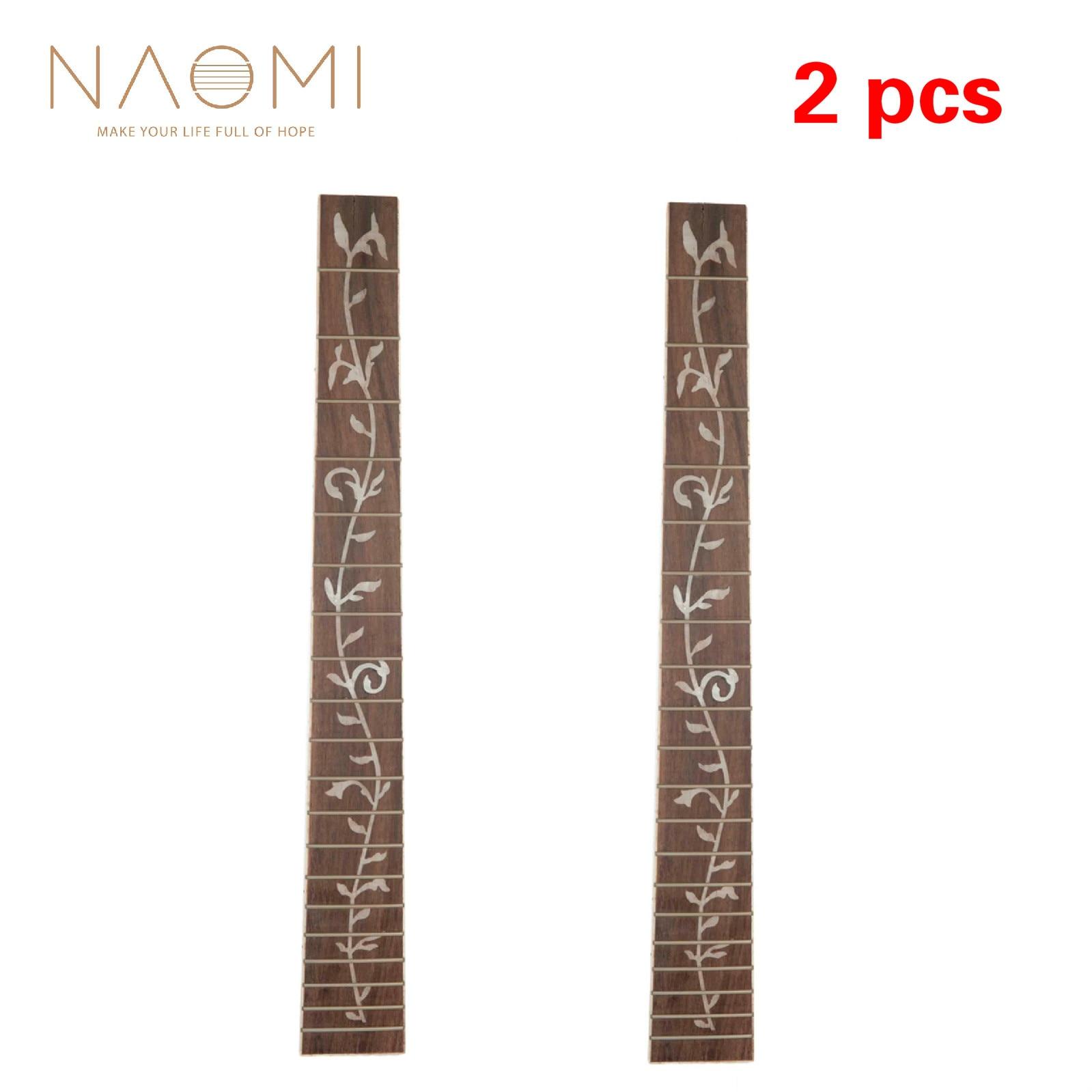 NAOMI 2 pcs guitare Fretboard acoustique Folk guitare palissandre Fretboard touche pour 41 ''20 Fret pièces de guitare accessoires nouveau