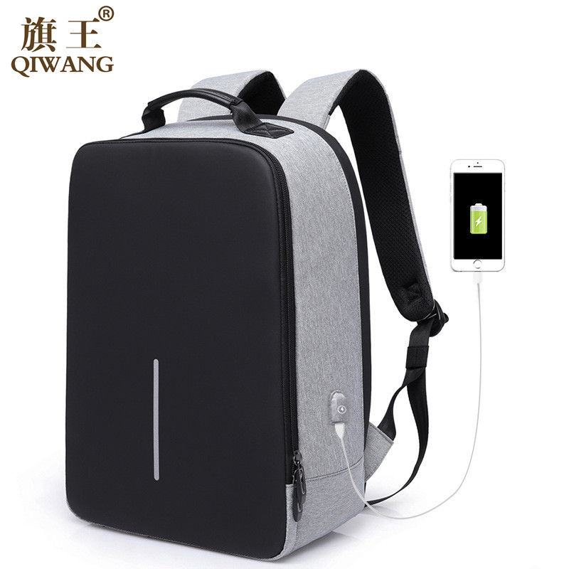 Qi Wang Computer Laptop Backpack Men Fashion Travel Backpack For Man Multifunction Usb Charging Backpack Travel School Shoulder qi wireless charger charging receiver transparent cover