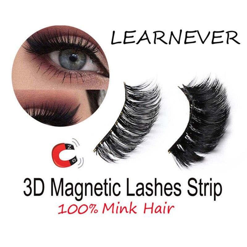 4 pcs/par Ímã Magnético Cílios Kit de Maquiagem Dos Olhos Grosso Mink Cílios Postiços Dropship Magnética de Boa Qualidade 3d