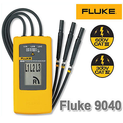 <font><b>Fluke</b></font> 9040 Digital Phase Rotation Indicator Tester Meters image