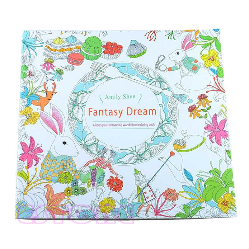 New Novelty Unisex Child Adult Fantasy Dream In Art Therapy Colouring Books Lustrous Surface Office & School Supplies