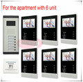 New arrival door phone /video intercom for 6 apartments entry Intercom system 6V6 Free shipping 2 year warranty