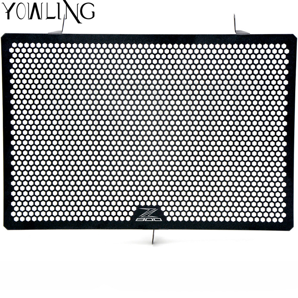 Black Motorcycle Accessories Radiator Guard Protector Grille Grill Cover For Kawasaki Z800  Z 800 2013 2014 2015 2016 stainless steel motorcycle radiator grille guard cover protector for kawasaki z300 z250 compatible abs 2013 2014 2015 2016