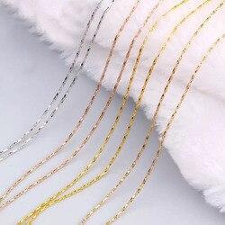 MxGxFam-petites chaînes en serpent, 40 cm, avec 5cm, pour pendentifs assortis, couleur or 18 K/24 k/Rose/blanc