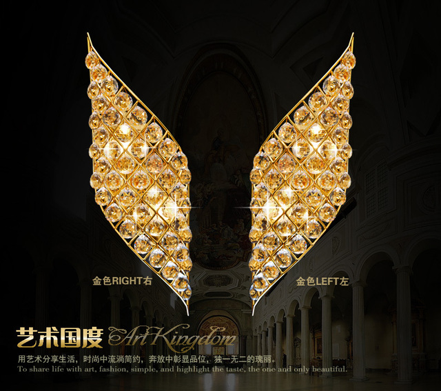 Klassieke Gouden of Zilveren Muur lampen trap/toegangsweg ...