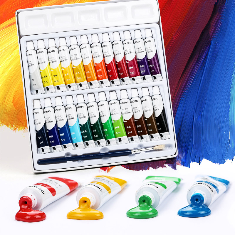 12/18/24 Colors 5ML/12ML Watercolor/Gouache/Acrylic Paint set for Artist Student Art Supplies Pigment image