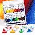 12/18/24 cores 5 ml/12 ml aquarela/gouache/pintura acrílica ajustada para o artista estudante arte suprimentos pigmento
