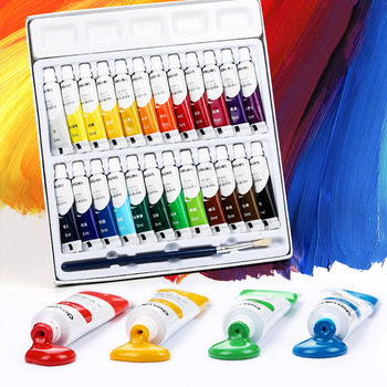 12/18/24 cores 5 ml/ml 12 Aquarela/Guache/conjunto Tinta Acrílica para o Artista estudante Fontes Da Arte Pigmento