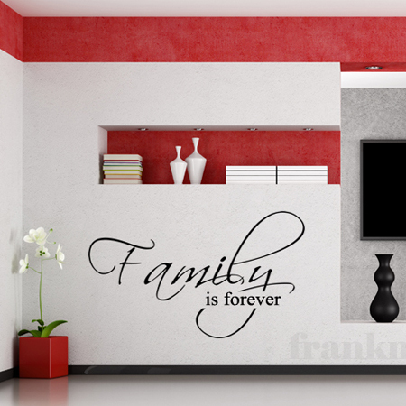 Family is Forever - Family Wall Decal Quote Vinyl Text Stickers Art Graphics 12 x 21 XS ...