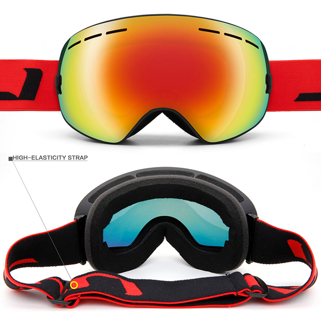 Winter Snow Sports Snowboard Ski Goggles With Anti-fog UV Protection