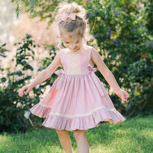 Girls Dress 2019 New Summer Dress Children Clothing Fashion Bow Princess Girl Cotton Clothes Kids Knee-Length Dresses for Girls
