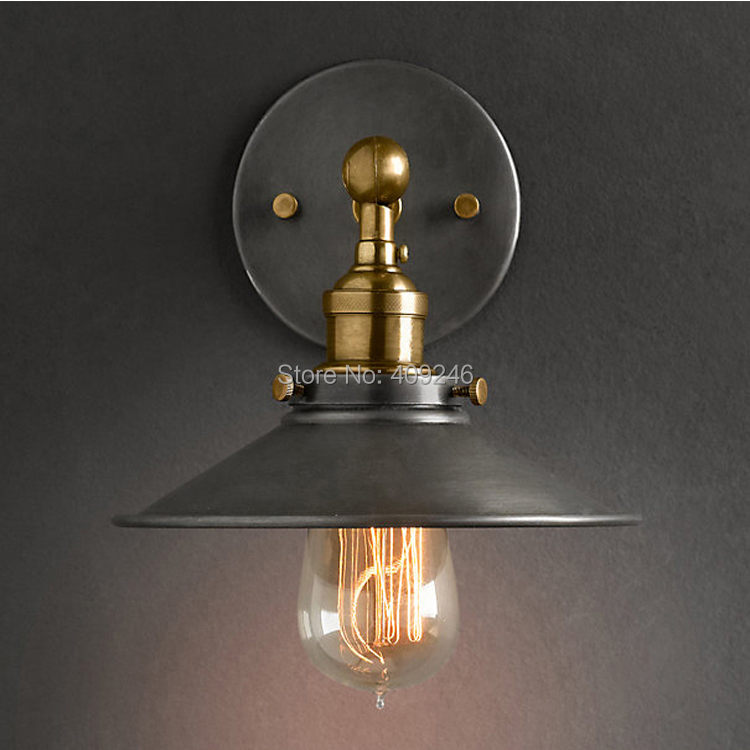 22CM RH LOFT American Stytle Vintage Ceiling or Wall lamp Two way Use pendant RH Loft light E27 edison bulb
