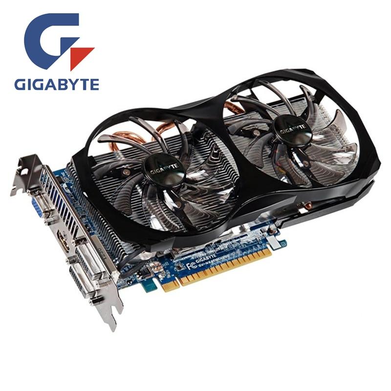 PLACA De Vídeo GIGABYTE Geforce GTX660 2 GB 192Bit GDDR5 GPU Gráficos Mapa Cartões de Memória Original Para NVIDIA GTX 660 PCI-E cartões