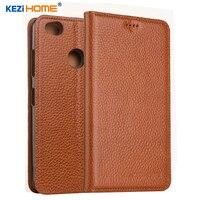 KEZiHOME pour ZTE Nubia N1 cas Flip en cuir véritable doux silicon retour pour ZTE Nubia N1 couverture