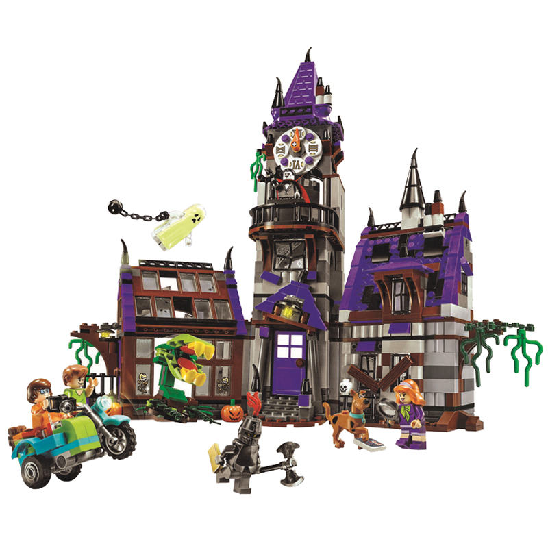 Bela Scooby Doo Mystery Castle Courtyard Minifigures font b Building b font blocks Compatible With Toy