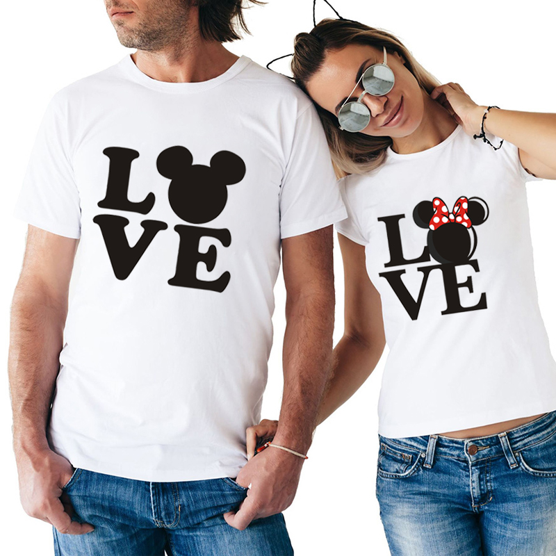 ZOGANKI Summer Couples Lovers T-Shirt For Women And Men Casual Tops Tshirt Women T Shirt Funny Print T-Shirt Female Tees Shirt