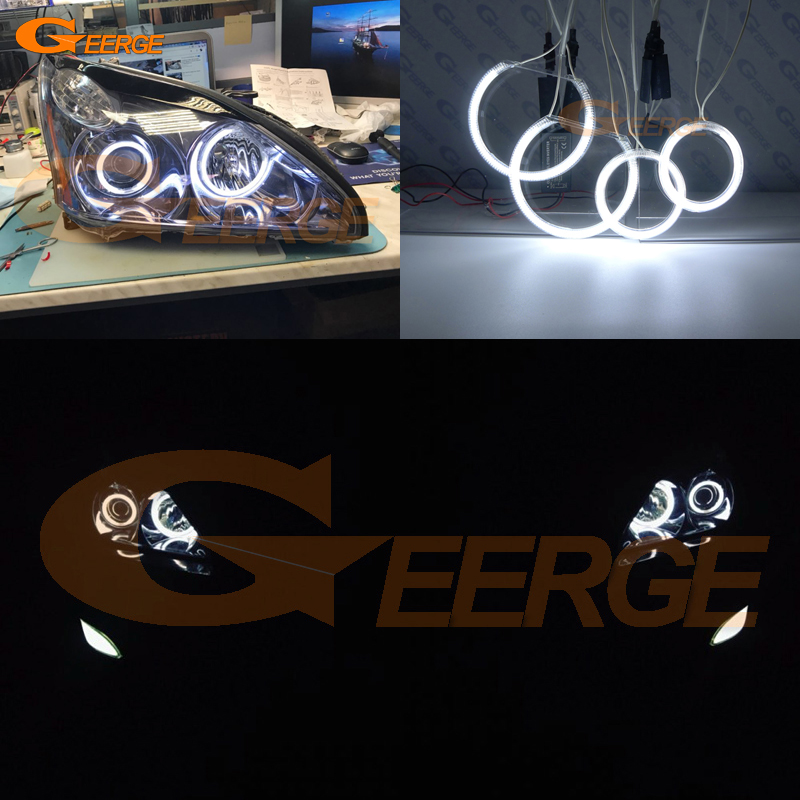 For LEXUS RX300 RX330 RX350 RX400h 2004 2005 2006 2007 2008 Excellent angel eyes Ultra bright illumination CCFL Angel Eyes kit for chrysler pacifica 2007 2008 halogen headlight excellent angel eyes ultra bright illumination ccfl angel eyes kit