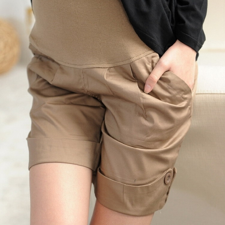 Summer Maternity Pants Pregnant Shorts Pregnancy Woman Cotton Belly Care Capris Maternity Trousers For Pregnant Women