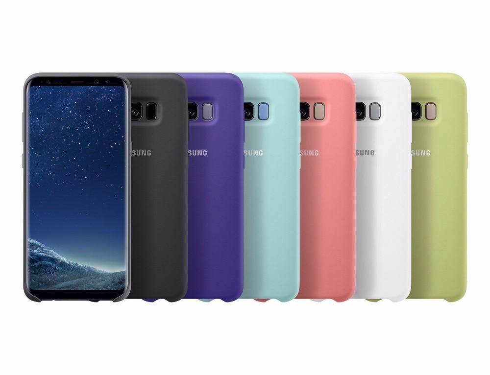 Coque en Silicone pour Samsung Galaxy, étui de Protection 100% Original, 6 couleurs, pour modèles S8, S8 plus, S8 , g9550, 9500, EF-PG950
