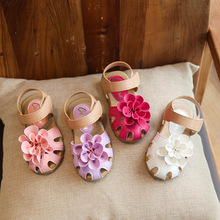 Children Sandals 2017 Summer Princess Girls Shoes Flower Decorated Anti Slip Baby Shoes Casual Kids Sandal White Pink Purple Red
