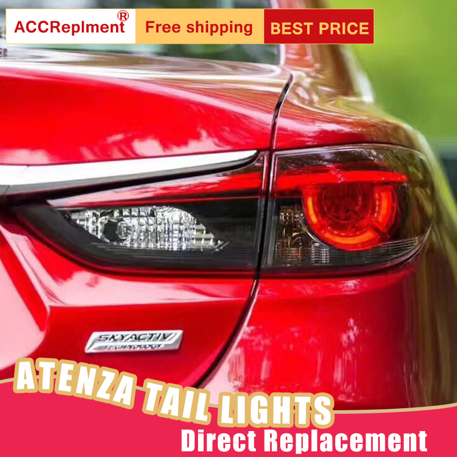 Car Styling LED Tail Lamp for Mazda 6 Tail Lights 2014 2018 for Atenza Rear Light DRL+Turn Signal+Brake+Reverse LED lights