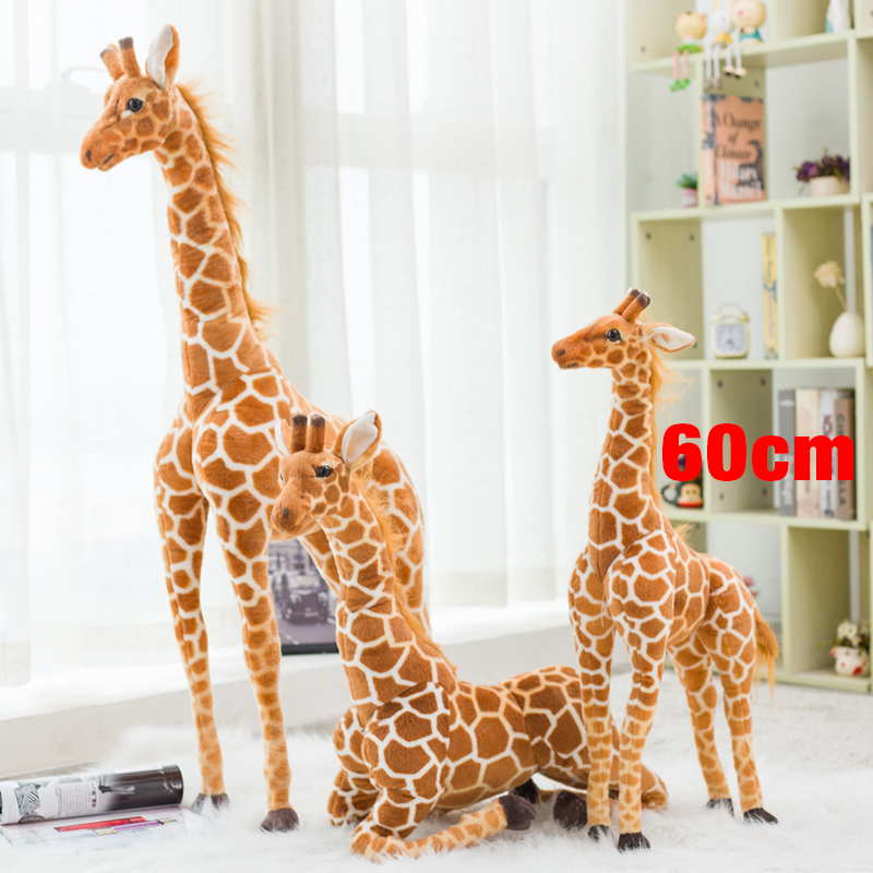 1pc 60cm cute simulation giraffe plush toy stuffed soft animal dolls high quality Home Accessories baby kids birthday gift recur toys high quality horse model high simulation pvc toy hand painted animal action figures soft animal toy gift for kids