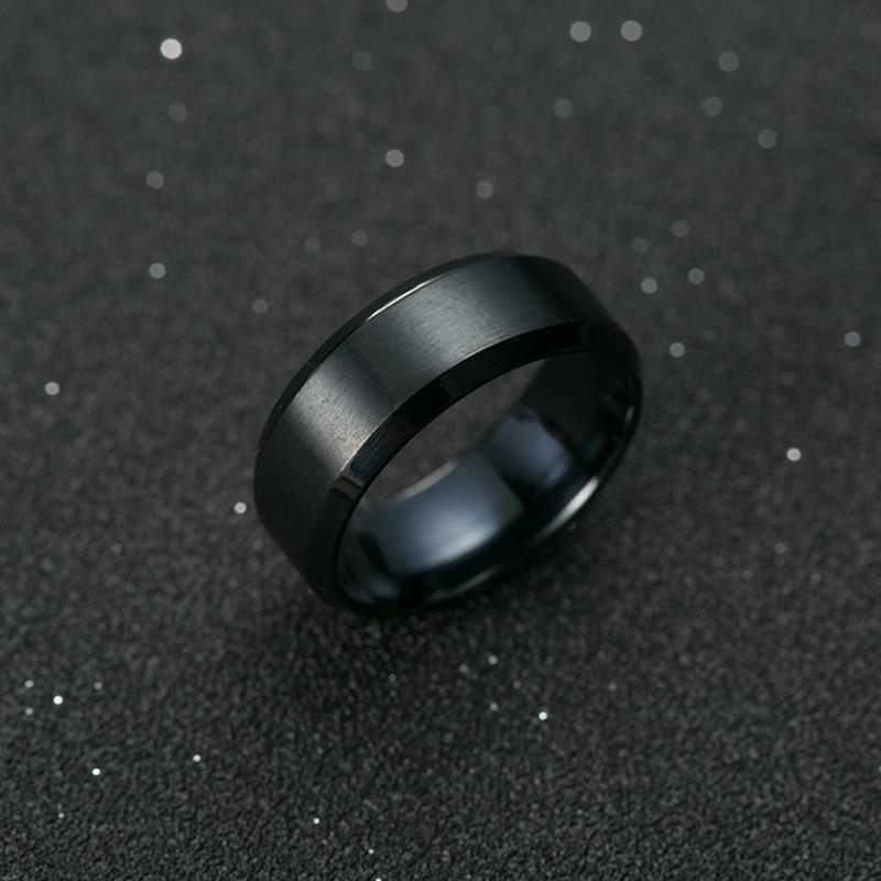 """Ring """"Men Style"""" Titanium Black 2"""