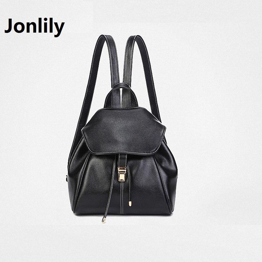 Jonlily High Quality Split Leather All match Women s Fashion font b Backpack b font Trend
