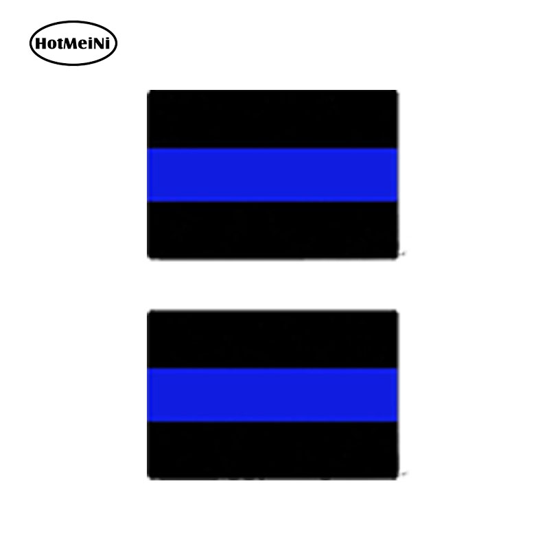 5PCS Police Officer Thin Blue Line American Flag Decal Car Graphic Sticker