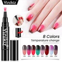 Yinikiz новейший температурный меняющий Цвет гель лак ручка