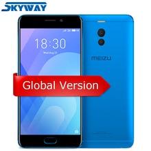 Orijinal Meizu M6 Not Küresel Sürüm 3 GB 32 GB cep telefonu Snapdragon 625 Octa çekirdek 5.5 ''Çift Kamera 4000 mAh Parmak Izi